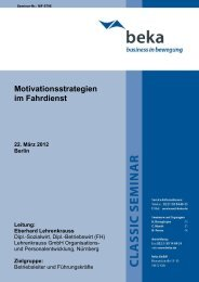Motivationsstrategien im Fahrdienst Termin: 22. März 2012 ... - newstix