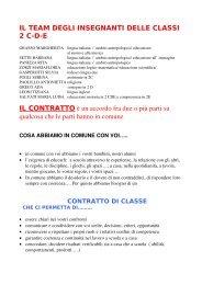 IL TEAM DEGLI INSEGNANTI DELLE CLASSI 2 C-D-E - Scuola3D