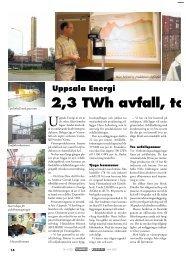 Uppsala Energi 2,3 TWh avfall, torv, trä och kol - Novator