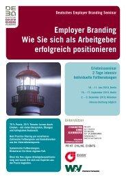 DEBA Seminar Flyer - Deutsche Employer Branding Akademie
