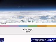 Alarm System - 6th ACS Workshop at UTFSM 2009