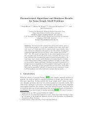 Parameterized Algorithms and Hardness Results for ... - CiteSeerX