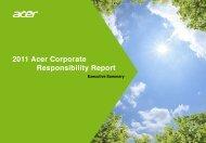 Executive Summary - Acer Group