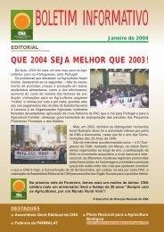 Boletim Informativo Janeiro de 2004 - CNA