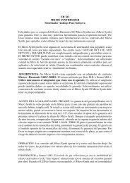 Micro Synthesizer - Instrucciones españ±ol (PDF) - Electro-Harmonix
