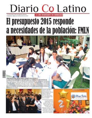 Edición 22 de Noviembre de 2014