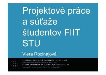Projektové práce a súťaže študentov FIIT STU