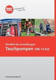 Tauchpumpen DIN 14 425 - Mast Pumpen GmbH
