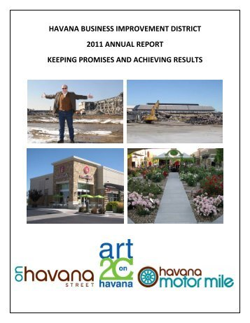 havana business improvement district 2011 ... - On Havana Street