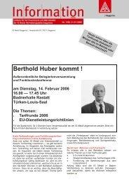 Berthold Huber kommt! - IG Metall Gaggenau