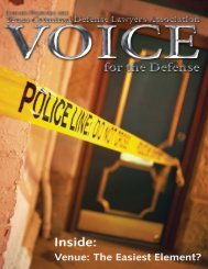 Inside: - Voice For The Defense Online