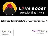 Lava Boost Presentation