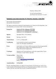 Einladung zum Juniorenturnier FC Pieterlen, Samstag, 3.Juli 2010
