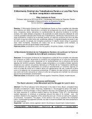 O Movimento Sindical dos Trabalhadores Rurais e a Luta ... - UNESP