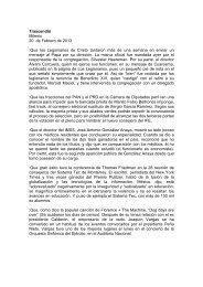 Trascendió Milenio 20 de Febrero de 2013 - Sistema Integral de ...