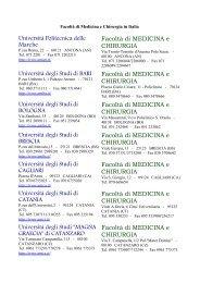 Facoltà di Medicina e Chirurgia in Italia - Amedeolucente.it