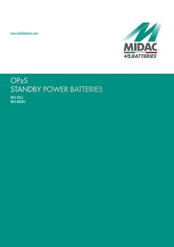OPzS STANDBY POWER BATTERIES - JHRoerden