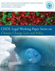 Does TRIPS Facilitate or Impede Climate Change ... - CISDL