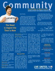 Winter Newsletter.qxp - United Way of Weld County