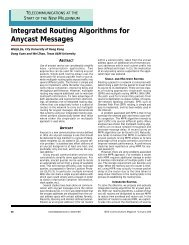 Integrated Routing Algorithms for Anycast Messages
