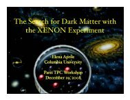 The Search for Dark Matter with the XENON Experiment