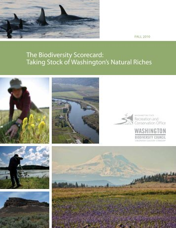 The Biodiversity Scorecard - Washington State Recreation and ...