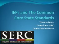 IEPs and The Common Core State Standards