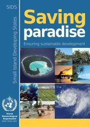 Small Island Developing States SIDS - E-Library - WMO