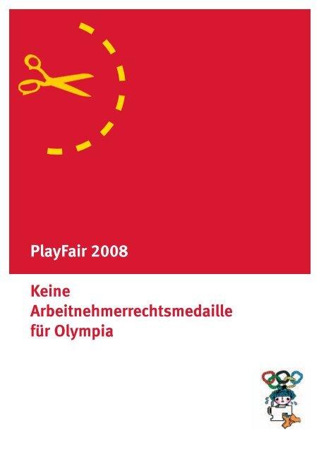 PlayFair 2008 Keine Arbeitnehmerrechtsmedaille ... - Nord-Süd-Netz