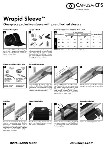 Wrapid Sleeve™ - Canusa-CPS