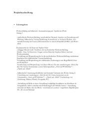Bericht über das Projekt im LK