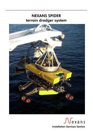 NEXANS SPIDER terrain dredger system