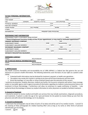 patient registration form sample