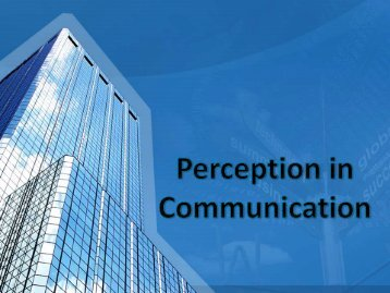 Perception in Communication