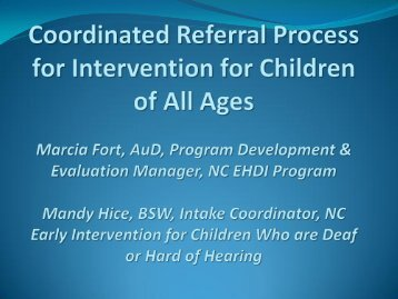 Coordinated Referral Process for Intervention for Children of All ...