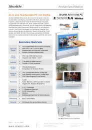 Shuttle All-in-one PC X 5000XA White (Fix Configuration without OS)