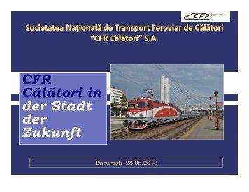 CFR CFR Călători în oraşul viitorului viitorului - Mediafax Talks