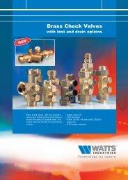 Brass Check Valves - Watts Industries