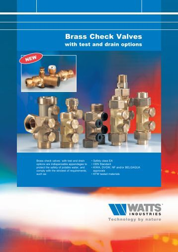 Brass Check Valves - Watts Industries