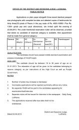 Recruitment for the Post of Peons - District Ludhiana
