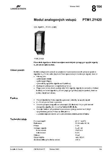 8164 Modul analogovęch vstup$ PTM1.2Y420 - M Elektronika
