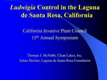 Ludwigia Control in the Laguna de Santa Rosa, California - Cal-IPC