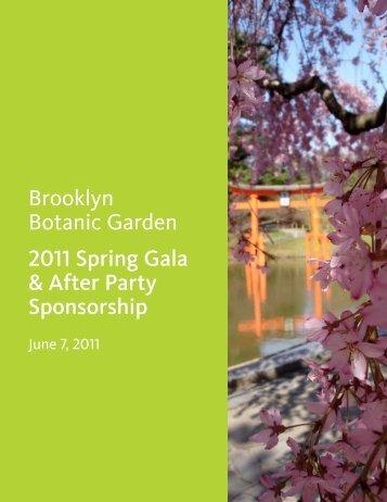 Brooklyn Botanic Garden 2011 Spring Gala & After Party Sponsorship