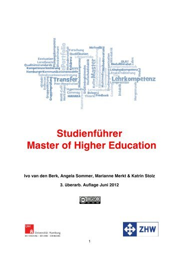 Studienführer Master of Higher Education - ZHW - Universität ...