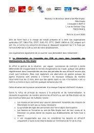 Monsieur le Directeur Général de Pôle Emploi, Pôle ... - CGT AFPA