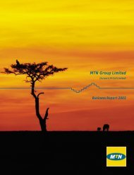 (formely M-Cell Limited) - Business Report 2003 - MTN Group