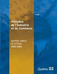 Ministère de l'Industrie et du Commerce - UQAC