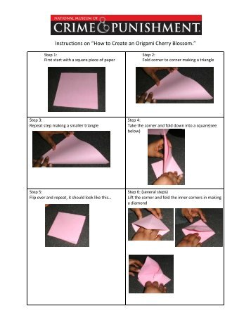 How to Make an Origami Cherry Blossom - Crime Museum