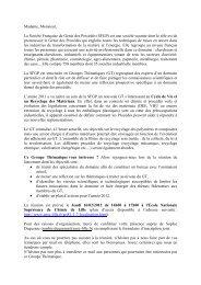 Madame, Monsieur, - Groupe Français d études et d applications ...