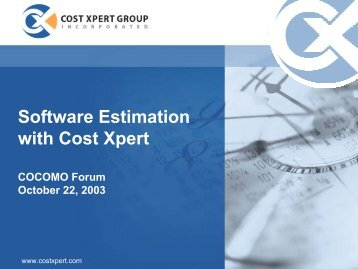 Software Estimation with Cost Xpert